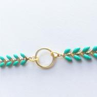 Bracelet bleu et or