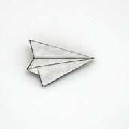 Crotte de Poule-broche fantaisie-avion en pappier-origami-originale
