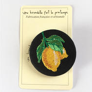 Badge brodé citrons