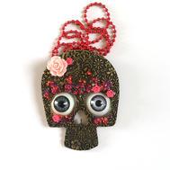 Collier tête de mort mexicaine