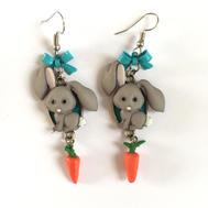 Boucles d'oreilles lapin carotte